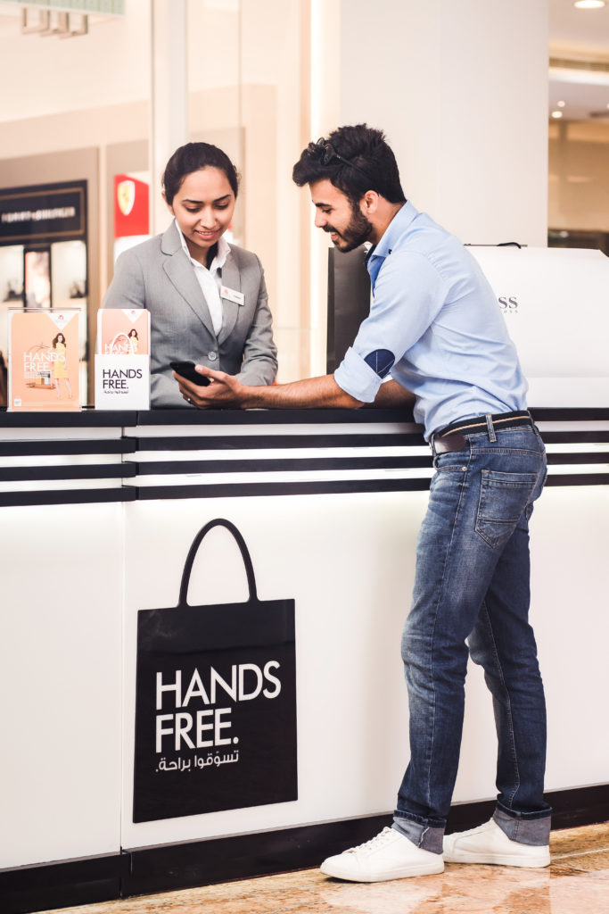 mall of the emirates launches unique hands free shopping service future of retail business in. Black Bedroom Furniture Sets. Home Design Ideas
