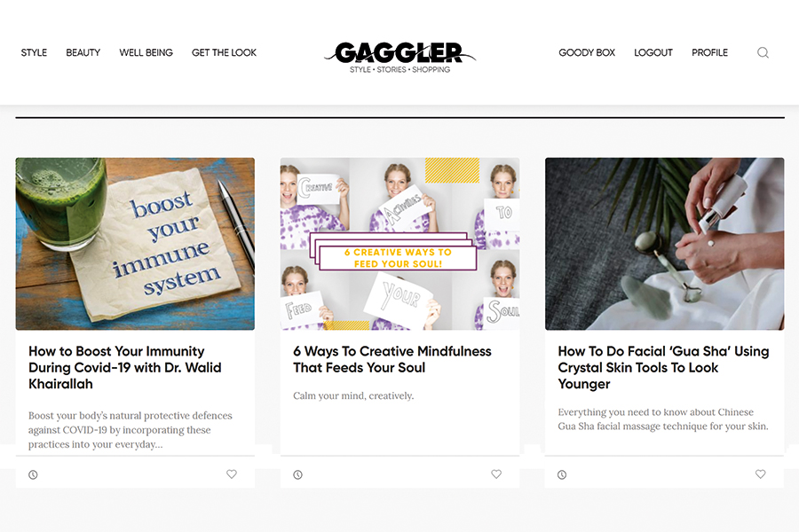 The Gaggler is a shoppable encyclopaedia
