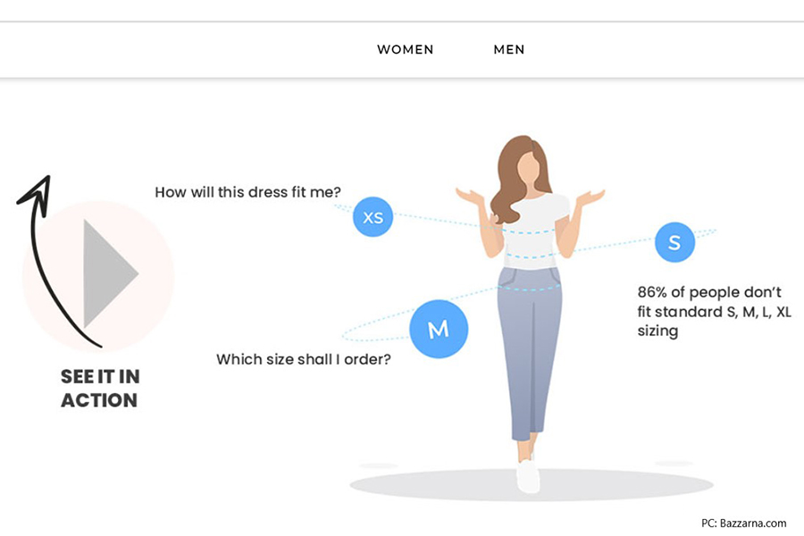 Bazzarna.com launches with a virtual fitting room