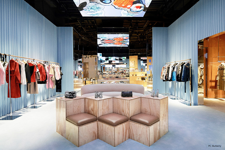 Burberry launches its first social retail store